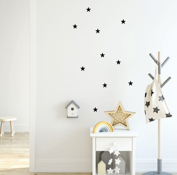 zwarte sterren muurstickers