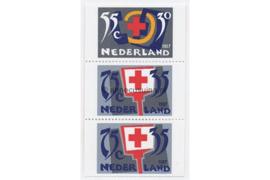 NVPH 1384a-1384c Postfris Twee of drie zijden ongetand, afkomstig uit boekje (PB36) Rode Kruis 1987