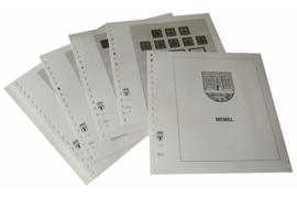 Lindner Inhouden / T-Voordruk albumbladen met folie voorbladen met stroken (Inhoud) Memel 1920-1939 (14 bladen) (Lindner 108)