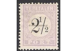NVPH P1 Postfris (2 1/2 cent) Cijfer in zwart 1886-1888