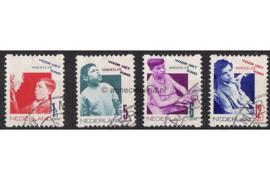 NVPH R90-R93 Gestempeld FOTOLEVERING Tweezijdige hoekroltanding Kinderzegels 1931