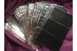 Zo goed als Nieuw! ; Gebruikt; Partij van 34 stuks Importa PSIII Bladen Transparant Luxe met zwarte kaartjes voor 204 FDC's!