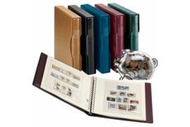 Lindner Postzegelalbum ROOD Ringband + Cassette (Regular) + Inhoud T-Voordruk albumbladen met folie voorbladen met stroken Cyprus 1880-1955 (11 bladen) (Lindner 294-1124-W)