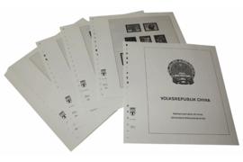 Lindner Inhouden / T-Voordruk albumbladen met folie voorbladen met stroken (Inhoud) China Volksrepubliek 2001-2004 (44 bladen) (Lindner 159-01)