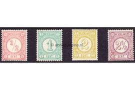 Nederland NVPH 30b-33a Gestempeld Drukwerkzegels (Nieuwe druk met synthetische drukinkt) 1894
