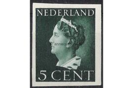 Nederland NVPH 332v Postfris Ongetand (5 cent) Koningin Wilhelmina 1940-1947