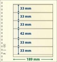 Lindner T-Blanco blad met 6 stroken (Lindner 802603) (per stuk)