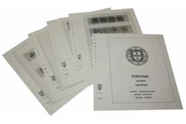 Lindner Inhouden / T-Voordruk albumbladen met folie voorbladen met stroken (Inhoud) Azoren Postzegelboekjes 1981-2015 (15 bladen) (Lindner 222H)