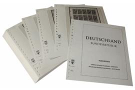 Lindner Inhouden / T-Voordruk albumbladen met folie voorbladen met stroken (Inhoud) Vellen van 10; 1989-1991 (59 bladen) (Lindner 120BK-89)