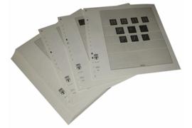 Lindner Inhouden / T-Voordruk albumbladen met folie voorbladen met stroken (Inhoud) België Dienst-, Port-, Pakketpost-, Militaire- en Spoorwegpakketzegels, Automaatboekjes en Ontvangstbevestigingskaarten 1940-2001 (46 bladen) (Lindner 126R)