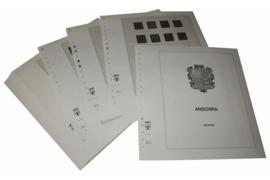 Lindner Inhouden / T-Voordruk albumbladen met folie voorbladen met stroken (Inhoud) Andorra Spaanse Post 1928-2015 (51 bladen) (Lindner 123)