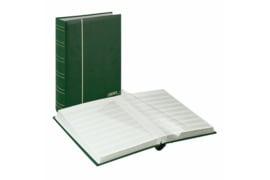 Lindner Insteekalbum Luxe/Luxus Nubuk (60 blz.) Witte bladen/Groene kaft (Lindner 1180-G)