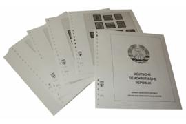 Lindner Inhouden / T-Voordruk albumbladen met folie voorbladen met stroken (Inhoud) Duitse Democratische Republiek 1969-1974 (63 bladen) (Lindner 121C)