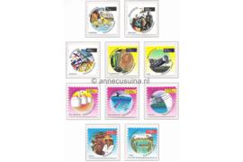 Nederlandse Antillen NVPH 1264a-1273a Postfris (Uit vel) Milleniumzegels Kleiner Formaat 1999