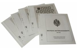 Lindner Inhouden / T-Voordruk albumbladen met folie voorbladen met stroken (Inhoud) Duitse Plebiscietgebieden 1920-1922 (12 bladen) (Lindner 114A)