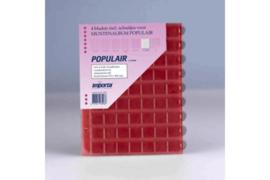 Importa Populair SETJE VAN: 4 x 63 Vaks Muntbladen met schuifjes & 4 Rode Schutbladen (Importa 0863r)