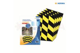 Herma Vloermarkering Zwart/Geel (70x297mm) 5x3 Stickers (Herma 12920)