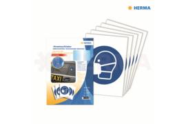 "Herma Gebodstickers ""Mondkapje Dragen"" (ø 20cm) 5 Stickers (Herma 12923)"