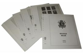 Lindner Inhouden / T-Voordruk albumbladen met folie voorbladen met stroken (Inhoud) België 1965-1971 (32 bladen) (Lindner 127a)