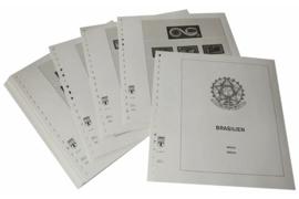 Lindner Inhouden / T-Voordruk albumbladen met folie voorbladen met stroken (Inhoud) Brazilië 2001-2007 (41 bladen) (Lindner 480-01)