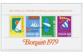 Nederlandse Antillen NVPH 629 Postfris Blok Sport, Sailing, Regatta Bonaire 1979