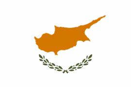Velletje met vlaggen Cyprus 72 stuks