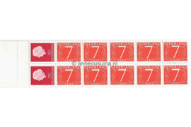 Nederland NVPH PB 1Mx Postfris Postzegelboekje 10 x 7ct cijfer v. Krimpen + 2 x 15ct Juliana 1964