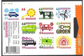 Nederland NVPH Vaa2550-2559 Postfris 3e druk met Open Hangoog Velletje Denk groen doe groen (Met aangepaste buitenlandse tarieven) 2008