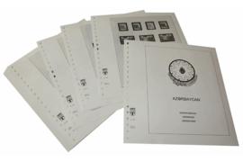 Lindner Inhouden / T-Voordruk albumbladen met folie voorbladen met stroken (Inhoud) Azerbeidzjan 1992-1997 (43 bladen) (Lindner 258)