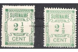 Alle kleuren: NVPH 66 Postfris FOTOLEVERING (2 1/2 cent / Tinten groen) Hulpuitgifte 1912