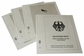 Lindner Inhouden / T-Voordruk albumbladen met folie voorbladen met stroken (Inhoud) Duitse Rijk Bezette Gebieden; Kanaaleilanden 1940-1943 (3 bladen) (Lindner 117D)