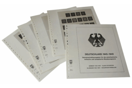 Lindner Inhouden / T-Voordruk albumbladen met folie voorbladen met stroken (Inhoud) Duitsland 1945-1949; Gemeenschappelijke uitgiftes voor de Amerikaanse-, Britse- en Russische bezettingszone 1946-1948 (7 bladen) (Lindner 118A)