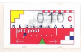 Nederland NVPH AU2 Postfris (10 cent) Automaatstroken, Voordrukzegel voor Klüssendorf-automaat 1996