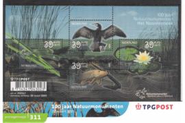 Nederland NVPH M311 (PZM311) Postfris Postzegelmapje 100 jaar Natuurmonumenten 2005
