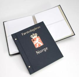 DAVO Standaard FDC album met Landswapen (Klein) met inhoud (Noorwegen)