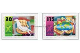 Nederlandse Antillen NVPH 1078-1079 Postfris Decemberzegels, wereldvrede 1994