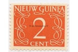 Nederlands Nieuw Guinea NVPH 2 Postfris (2 cent) Cijfer van Krimpen 1950