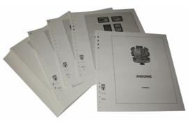 Lindner Inhouden / T-Voordruk albumbladen met folie voorbladen met stroken (Inhoud) Andorra Franse Post 1972-20007 (47 bladen) (Lindner 124A)