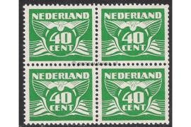 Nederland NVPH 390 Postfris (40 cent) (Blokje van vier) Vliegende duif 1941