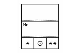 Lindner Prijsetiketten/-kaartjes (22 x 27 mm) (Lindner 802024) Per 1000 Stuks