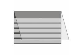Mandor Insteekkaarten A5 210 x 148 mm zwart (5 stroken) per stuk
