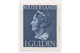 Nederland NVPH 346 Postfris (1 Gulden) Koningin Wilhelmina (Konijnenburg) 1940-1947