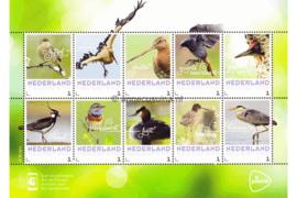 Nederland NVPH Vogels in Nederland Postfris Overige velletjes (Persoonlijke Postzegels) Velletje Vogels in Nederland 2017