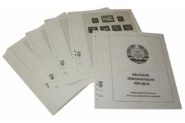 Lindner Inhouden / T-Voordruk albumbladen met folie voorbladen met stroken (Inhoud) Duitse Democratische Republiek 1949-1962 (54 bladen) (Lindner 121A)