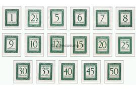 Curaçao NVPH P44-P60 Postfris Cijfer en waarde in rechthoek, inschrift Nederlandse Antillen 1952-1959