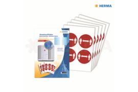 """Herma Gebodstickers """"Afstand Bewaren"""" (ø 10cm) 20 Stickers (Herma 12925)"""