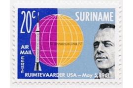 Suriname NVPH LP34a Postfris (20 cent) Ruimtevaart 1e oplage met Lichtblauw 1961