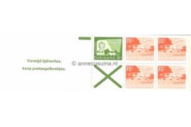 Republiek Suriname Zonnebloem PB 1a Postfris Postzegelboekje 4 x 35 ct + 1 x 10 ct + groen adreaskruis  en met tekst 1976