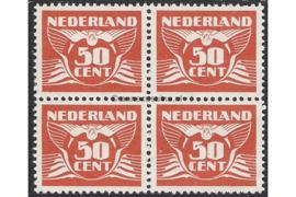 Nederland NVPH 391 Postfris (50 cent) (Blokje van vier) Vliegende duif 1941