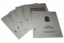 Lindner Inhouden / T-Voordruk albumbladen met folie voorbladen met stroken (Inhoud) België Dienst-, Port-, Pakketpost-, Militaire- en Spoorwegpakketzegels, Automaatboekjes en Ontvangstbevestigingskaarten 2002-2015 (51 bladen) (Lindner 126R-02)